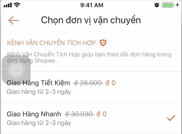 phí ship shopee