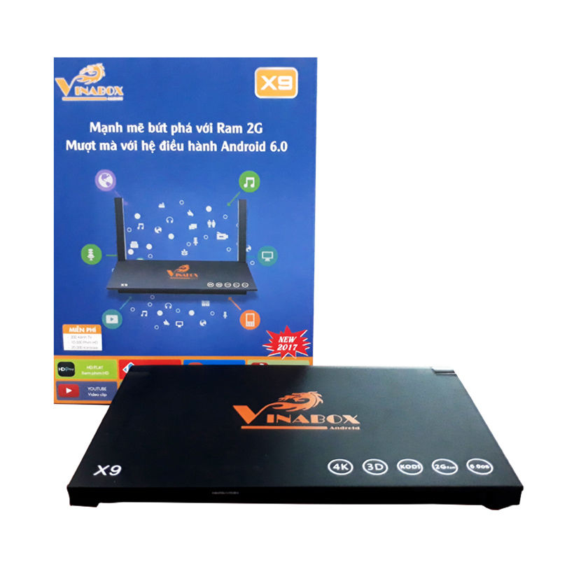 Android TV Box Vinabox X9 (Đen)